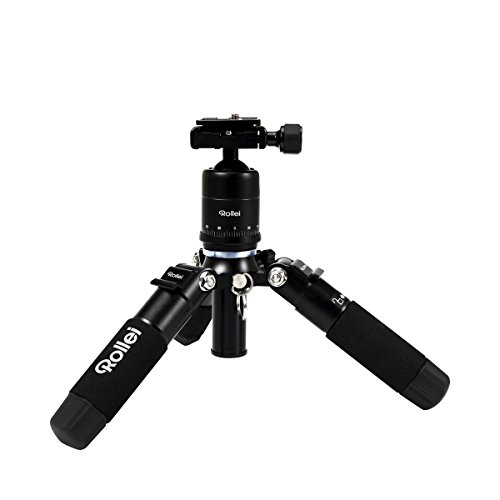 Rollei Compact Traveler Mini M-1 – Compact Mini-tripod, very light and ideal for travel, incl. Ball Head and Quick…