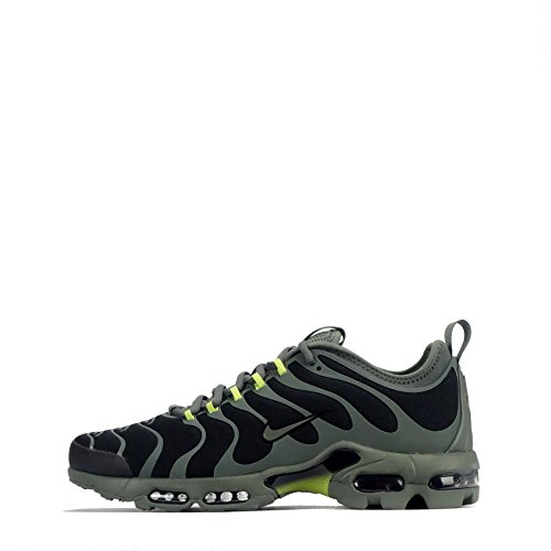 Nike Herren Air Max Plus Tn Ultra Schwarz Textil/Synthetik Sneaker Schwarz (Black/Bright Cactus/River Rock)