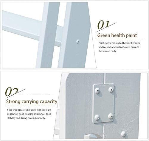 escalera de madera plegable de 6 escalones para taburete antideslizante Ascend de /ático SED Escaleras de tijera multiusos