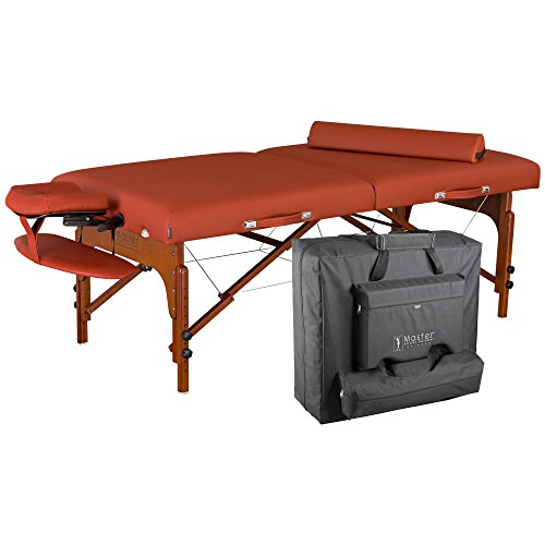 Master-Massage-Santana-Memory-Foam-Portable-Massage-Table-Package-Mountain-Red-31-Inch