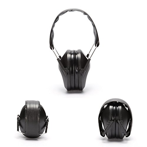 Noise Reduction Safety Ear Muffs, Adjustable Shooters Hearing Protection Ear-muff, 21-30dB Professional Ear Defenders, Special Designed Ear Muffs Lighter Weight & Maximum Hearing Protection (Black)