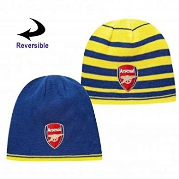 95b31432065f8d Official Arsenal FC Reversible Beanie Hat by Puma: Amazon.co.uk: Sports &  Outdoors