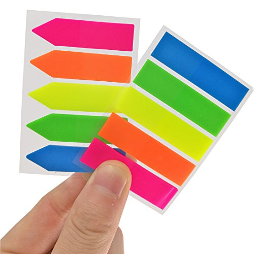 Antner 12 Sets Neon Page Markers Colored Index Tabs Flags Sticky Notes for Page Marker, 1200 Pieces Photo #3