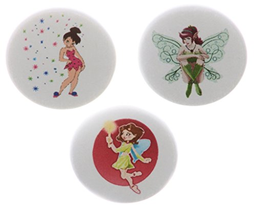 "- Set 3 Fairies Fairy Pixie 2.25"" Bottle Openers w/ Keyring Sparkle Wand Magic"