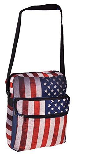 Borsa a tracolla e borsa a tracolla in USA Stars and Stripes bandiere cartamodello 25x 33x 15cm