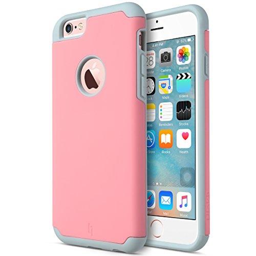 7dbcd85b3e2 ULAK iPhone 6 /6S Carcasa, iPhone 6/6S 4.7 Pulgadas Case Funda Doble Capa  hñbrida Delgado Prueba de Golpes Funda de Silicona para el iPhone 6/6S de  4.7 ...