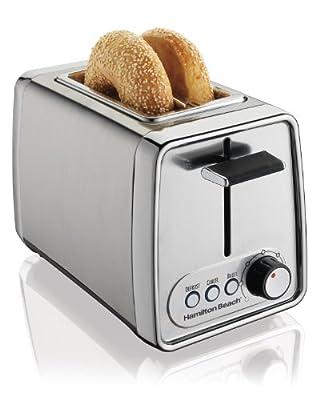 Hamilton Beach 22791 Modern Chrome 2-Slice Toaster