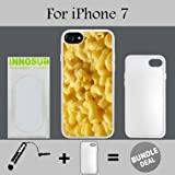 mac and cheese ipod 5 case - Innosub Custom iPhone 7 Case (Mac n cheese ) Edge-to-Edge Rubber White Cover with Shock and Scratch Protection | Lightweight, Ultra-Slim | Includes Stylus Pen