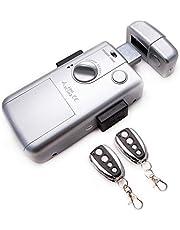 KENROD Onzichtbaar Smart Lock | Lock 2 bedieningselementen | Antidumping Lock | Elektronisch slot met afstandsbediening Binnendeur slot | Elektronisch veiligheidsslot | Zilver