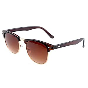 Mchoice New Retro Vintage Womens Mens Designer Oversized Sunglasses Glasses (Brown)