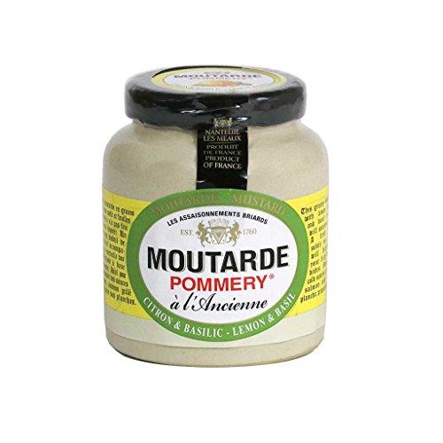 Lemon Mustard (Pommery - Whole Grain Mustard with Lemon & Basil, 100g (3.5 oz))