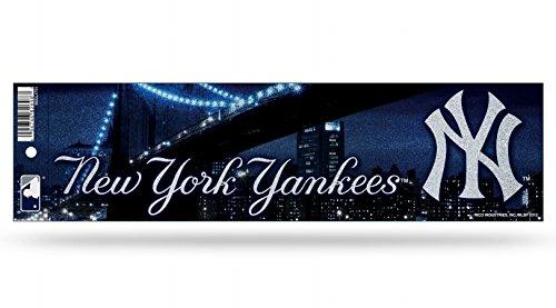 - Rico MLB Yankees Bumper Sticker, 9 x 4, Logo Color
