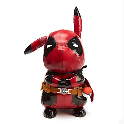 2017 Newest Fan's Favorite Pikapool Plush Toy Doll 18 Inch Best Gift for Kids Party Decoration Figure Pikachu Deadpool Cosplay Premium Soft Large Size Best from Nintendo and Marvel Present