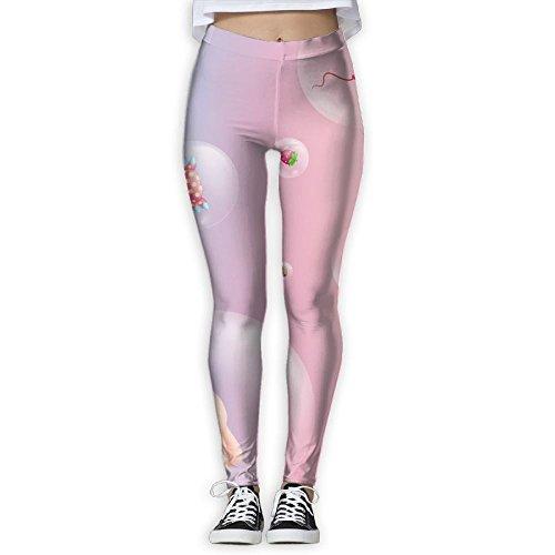 MIULOP CMILC Women's High Waist Yoga Pants Bubble Tummy Control Workout Running 4 Way Stretch Yoga Leggings