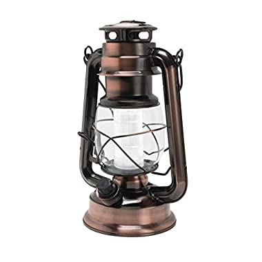 NorthPoint Vintage Style 12 LED Lantern, Copper