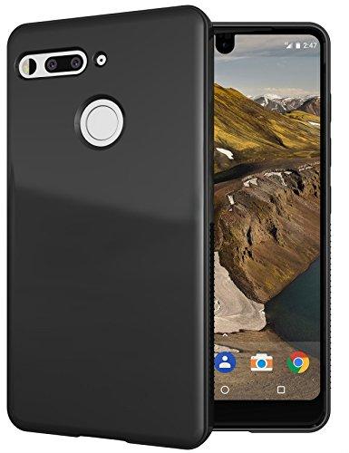 Essential Phone PH-1 Case, TUDIA Lightweight Minimalist [SKN] TPU Bumper Shock Absorption Cover for Essential Phone PH-1 (Glossy Black)