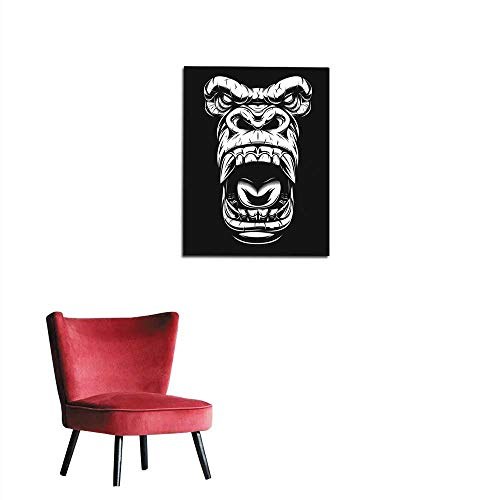 longbuyer Wallpaper Ferocious Gorilla Head Mural 20