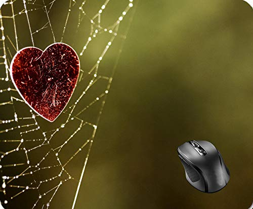 SHAQ Spider Web Moisture Heart Water Romance Mouse Pad 8.6 X 7.1 -
