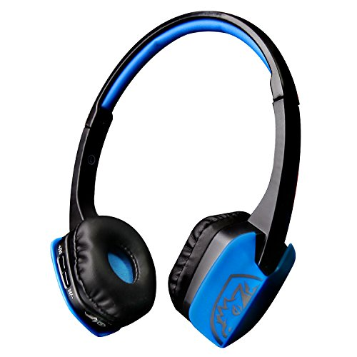 Sades D201 Wireless Bluetooth Compatible Sport Stereo Universal Headset Headphone for PC Smartphone (Blue/Black)