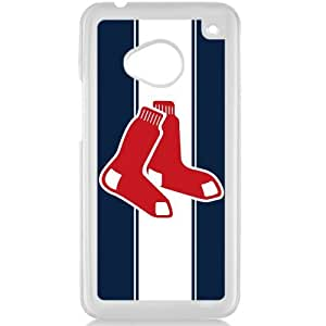 MLB Major League Baseball Boston Red Sox HTC One M7 Hard Plastic Black or White case (White)