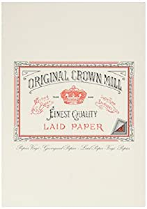 Original Crown Mill A5 Classic Line Texture Laid Writing Pad - Cream (Pack of 50)