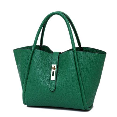 Green Satchel Handbag - 6