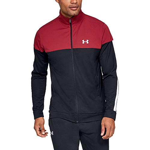 Under Armour Sportstyle Pique Track Jacket, Aruba Red//White, Large ()