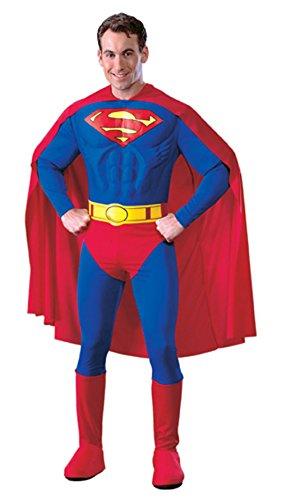 DC Comics Deluxe Muscle Chest Superman Costume, Medium