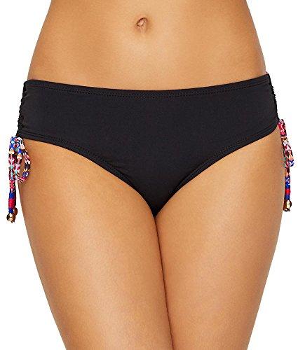 Anne Cole Signature Stevie Stripe Side Tie Bikini Bottom, XL, Multi