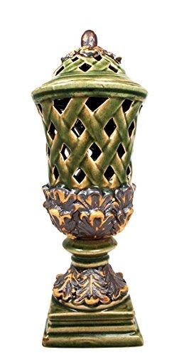 Master Craft Ceramic Pedestal Candle Holder