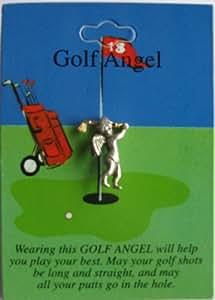 Set of 12- Pewter Golf Angel Pins