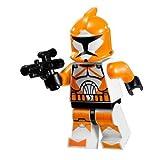 LEGO Star Wars Minifigure - Orange Bomb Squad Trooper with Blaster Gun (7913)