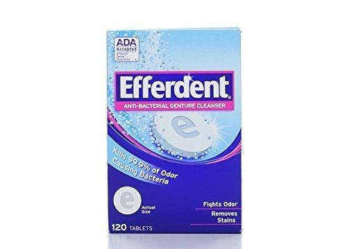 Efferdent Denture Cleanser, 120-Count Tablets (Pack of 3)