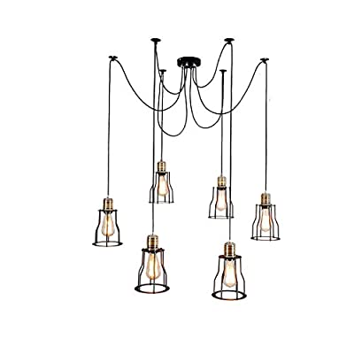 Unitary Brand Vintage Large Barn Chandelier Max 360w with 6 Lights Painted Finish