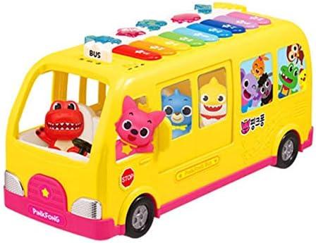 Pink-fongフィギュアキャラクターベビーサメメロディーピアノ歌唱バスキッズベビー Pink-fong Figure Character Baby Shark Melody Piano Singing Bus Kids Baby