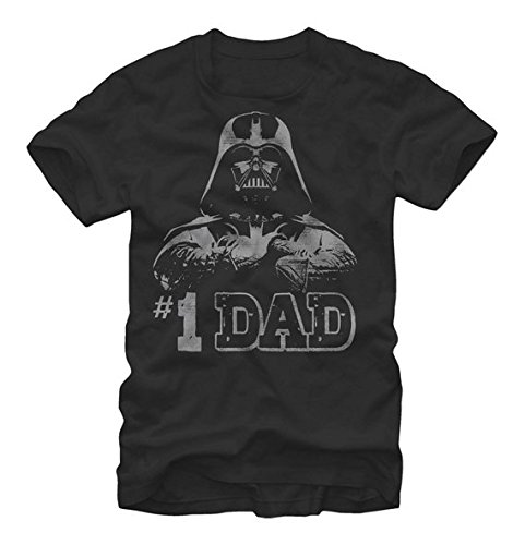 Star Wars - Numero Uno Dad Fathers Day T-Shirt (X-Large),Black