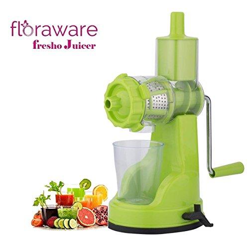 Floraware Plastic Green Fruits & Vegetable Juicer With Steel Handle, Green
