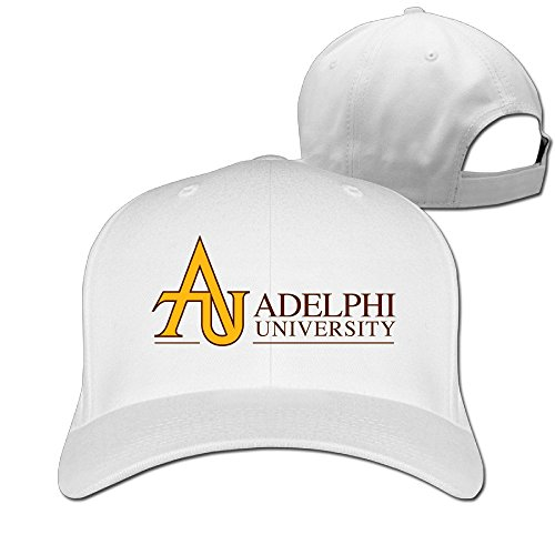 Logon 8 Geek Adelphi University Baseball Cap One Size White You Can