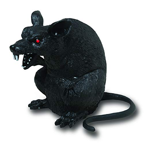 Clever Home Halloween Giant Black Rat Standing Up - 7 inches ()