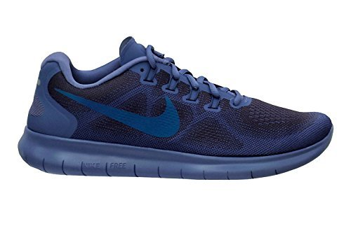 NIKE Men's Free RN 2017 Running Shoe Blue (10) by NIKE