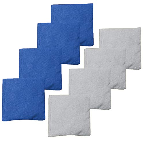 Play Platoon Weather Resistant Cornhole Bean Bags Set of 8 - Blue & Gray ()