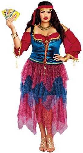 Dreamgirl Women's Plus Size Gypsy, Multi,