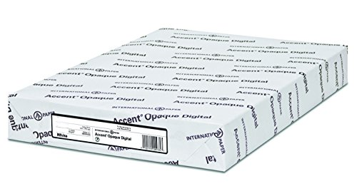 Accent Opaque, Vellum White, 28lb / 70lb, Letter, 8.5 x 11, 97 Bright, 500 Sheets / 1 Ream, Made in The USA by Accent