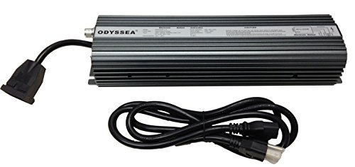 Odyssea MH Ballast 1000W HPS Hydroponics Grow Light Lamp Dimmable Digital by Odyssea