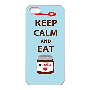 Fashion Keep Calm And Eat Nutella Personalized iPhone 5,5S Rubber Silicone Case Cover by ruishername