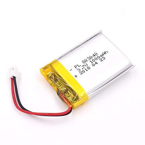 (3.7V 1000mAh 803040 Lipo battery Rechargeable Lithium Polymer ion Battery Pack with JST Connector)