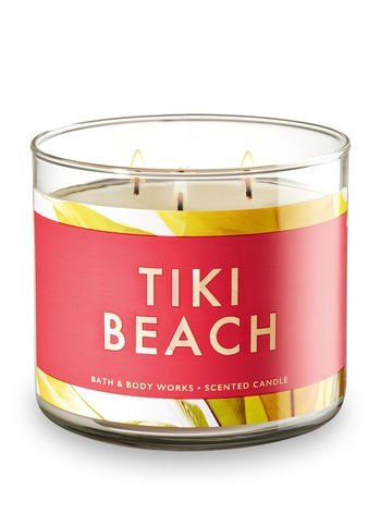 Bath and Body Works 3 Wick Scented Candle Tiki Beach 14.5 (Beach Tiki Bath)