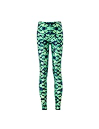 ABCHIC Big Girls' Four Leaf Clover Skinny Pants Green Fit for Over 14 Years Old Women