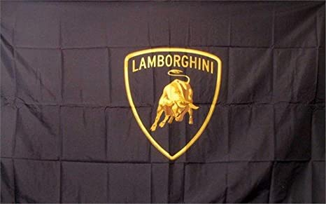 Amazon Com Lamborghini Logo Dealer Banner Flag Sign Office Products