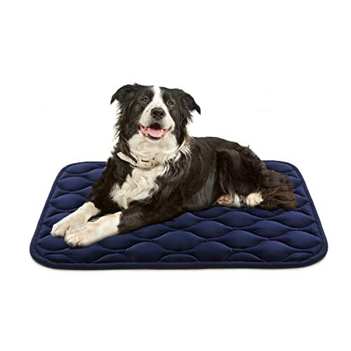 AIPERRO Dog Crate Pad Washable Dog Bed Mat Dog Mattress Pets Kennel Pad for Large Medium Small Dogs and Cats, 35